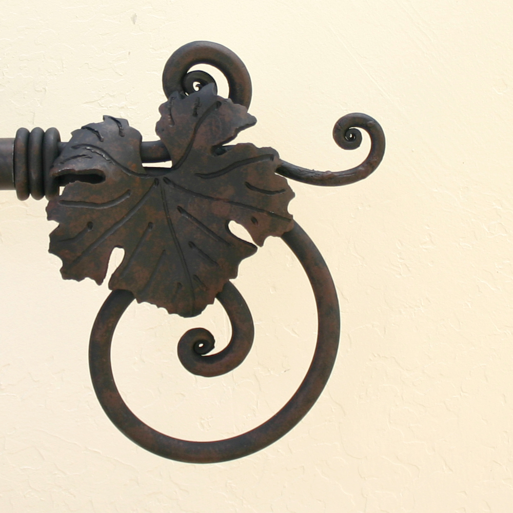 Wrought iron drapery rods - Wrought Iron Finials
