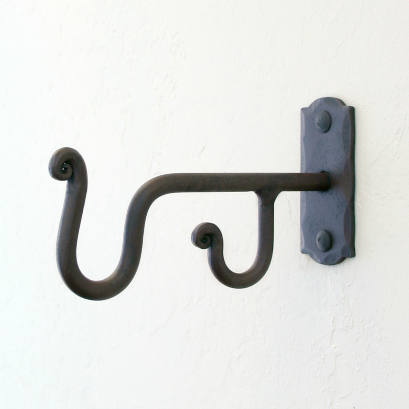 Wrought Iron Double Rod Mounting Brackets