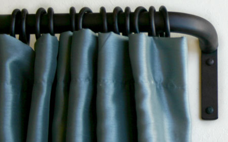 wrought iron return rods french curtain rods