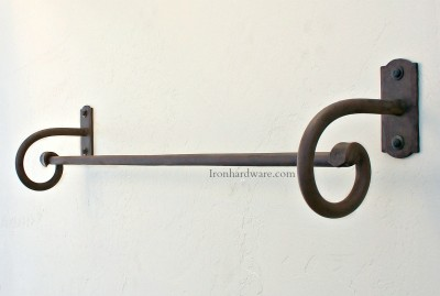 Hand Forged Wrought Iron Towel Bar