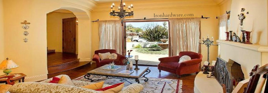 Curtains Ideas 140 inch curtain rod : Wrought Iron Curtain Rods - Paso Robles Ironworks