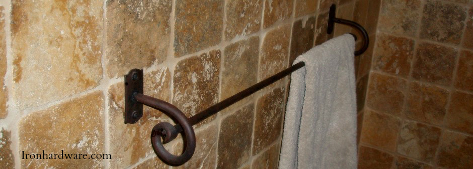 Wrought Iron Towel Bars And Bathroom Hardware Paso