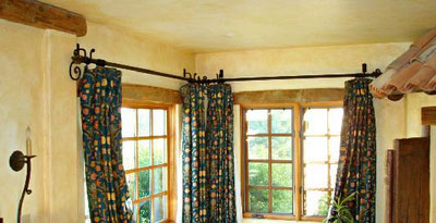 Wrought Iron Curtain Rods For Bay Windows