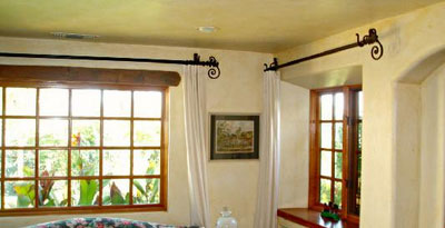 wrought iron curtain rods Wrought Iron Drapery Hardware   Paso Robles Ironworks wrought iron curtain rods
