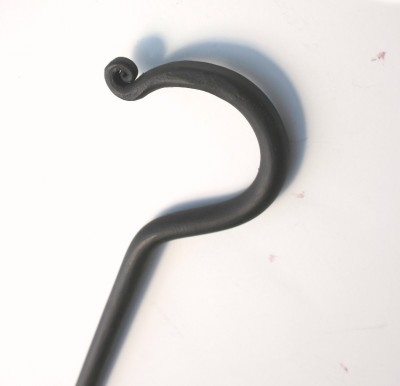 Wrought iron drapery baton from Paso Robles Ironworks