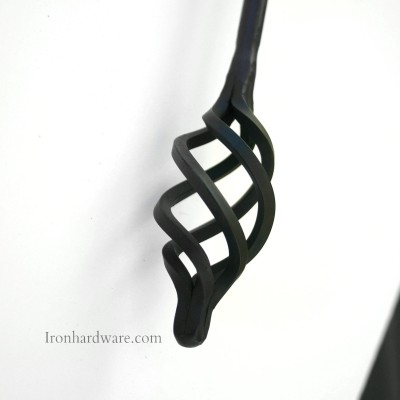 Wrought iron drapery baton handle from Paso Robles Ironworks