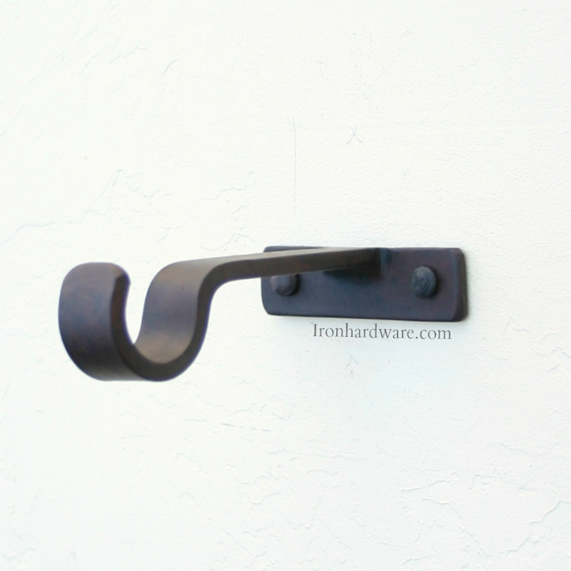 Iron Drapery Hardware Mounting Brackets