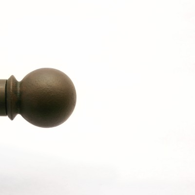 Grande cast iron Ball finial shown in our exclusive iron oxide finish available only at Paso Robles Ironworks