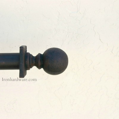 Wrought Iron Curtain Rods - Paso Robles Ironworks